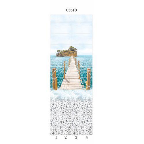 """03510 Дизайн-панели PANDA """"Море"""" Панно 4шт(8,1м2=12шт)"""