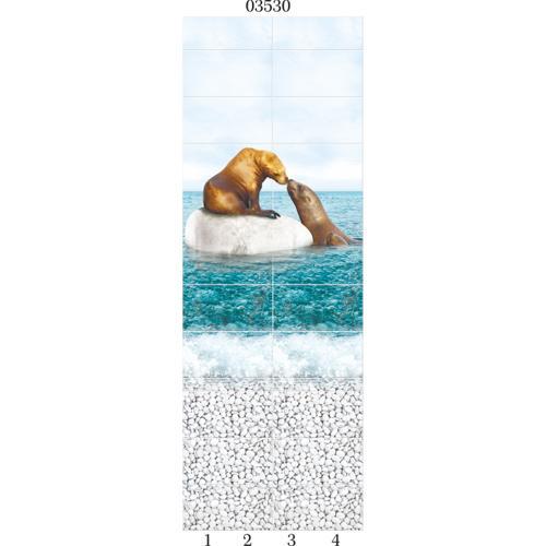 """03530 Дизайн-панели PANDA """"Море"""" Панно 4шт(8,1м2=12шт)"""