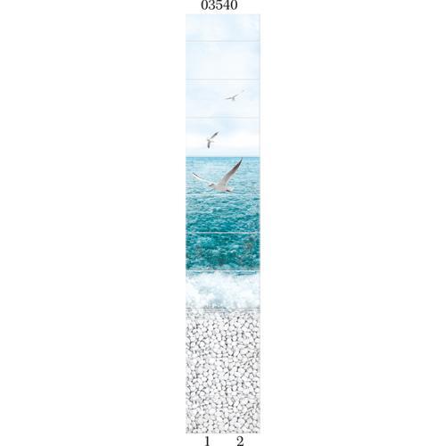 """03540 Дизайн-панели PANDA """"Море"""" Панно 4шт(8,1м2=12шт)"""