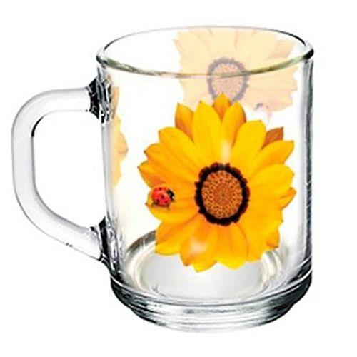 """09с1433 ДЗ Б.кор.на ж.цв.: Кружка """"Gren tea"""" (Божья коровка на желтом цветке)"""