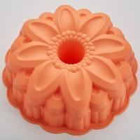 "BE-4403S Форма для выпечки силикон.  ""Георгин"" цвет: коралловый 25.5x7.5см  (48)"