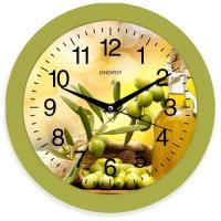Часы настенные кварцевые ENERGY модель EC-100 оливки