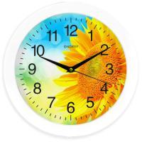 Часы настенные кварцевые ENERGY модель EC-97 подсолнух