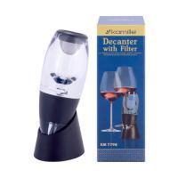 Декантер для вина из акрила с фильтром и подставкой 7,8*8,5*22,5см. (7798)