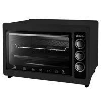 Эл. духовка DELTA с термостатом D-0123 черная с тэном повышенной мощности, 1300Вт., 37 литров
