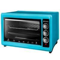 Эл. духовка DELTA с термостатом D-0123 голубая, 1300Вт., 37 литров, 2 нагрев.элемента, 1 противень