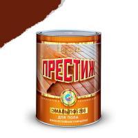 """Эмаль ПФ-266 (Красно коричневая 0,9 кг) (14шт. в кор.) """"ПРЕСТИЖ"""""""