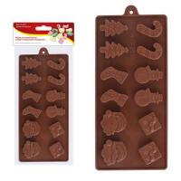 """Форма для шоколадных конфет силиконовая """"Рождество"""". NEW, 2.91 (МультиДом)"""