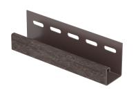 J-планка (пвх).0044.Н., кирпич коричневый (3,05м)