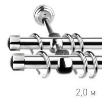 Карниз кованый Ле-Гранд d16 мм гладкий 2м хром-глянец