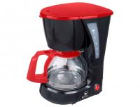 Кофеварка ВАСИЛИСА КВ1-600, черный с красным, 600мл