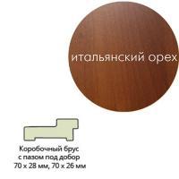 Коробка ламинир.квадр.с пазом 70*26*2070 ит.орех  Леском