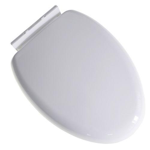 Крышка для унитаза белая пластиковая с микролифтом Р05