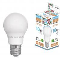 Лампа светодиодная НЛ-LED-A55-10Вт-230  В-6500 К-Е27, (55х98мм) Народная (SQ0340-1510) Р