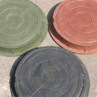 Люк ПП садовый зеленый (до 1,5тонны)Ф755мм*60мм вес 20 кг_Т