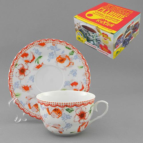 Набор чайный 2 пр. КАНТРИ-РОУЗ 225 мл цв.уп. (КОР-36НАБ)  586-376
