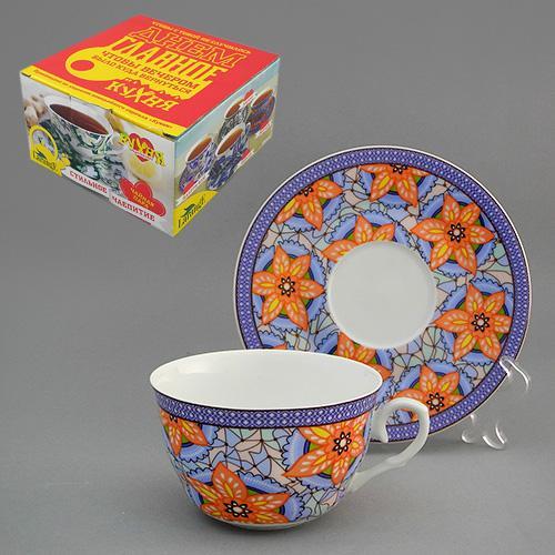 Набор чайный 2 пр. ВИТРАЖ 225 мл цв.уп. (КОР-36НАБ)  586-372