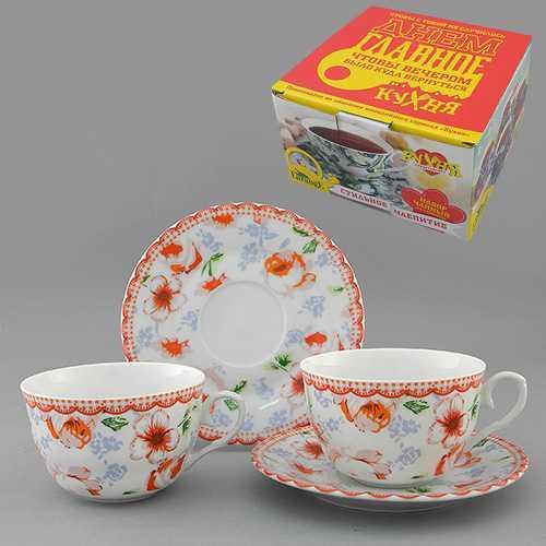 Набор чайный 4 пр. КАНТРИ-РОУЗ 225 мл цв.уп. (КОР-16НАБ)  586368