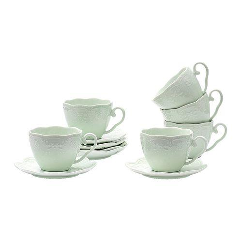 Набор чайный 6/12 250мл п/уп, Бабочка светло-зеленая HD-031AG