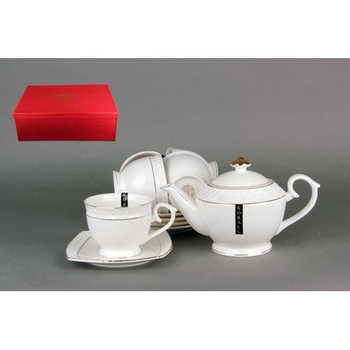 Набор чайный 6/13 ф.квадрат 900мл 240мл CPT0110-A снежная королева/з