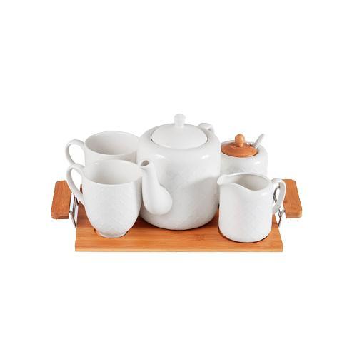 """Набор чайный JEWEL Клевер 5 предметов (фарфор) """"JEWEL"""" (ПС00032-12)"""