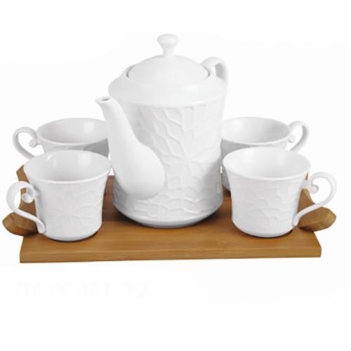 """Набор чайный на подставке (фарфор) """"JEWEL"""" (ПС00021-12)"""