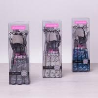 Набор столовых приборов 24 предмета с пластиковыми ручками (,молочный) (5243)