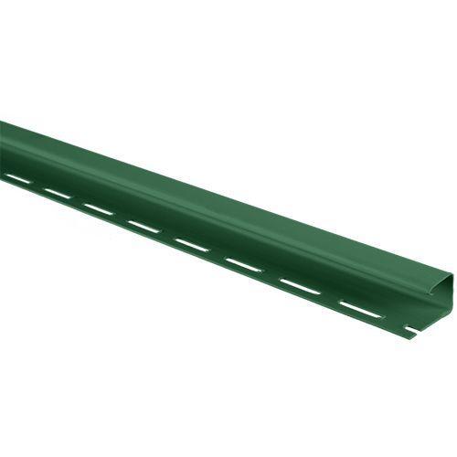 """Планка """"J-trim"""" зеленая Т-15 (3.66м) """"АЛЬТА-ПРОФИЛЬ"""""""