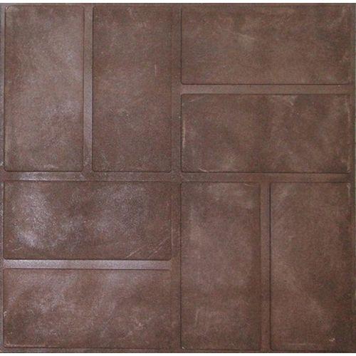Плитка тротуарная полимерпесчаная  330*330*35 шоколад (4кг)