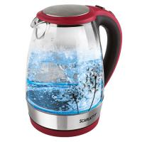 SC-EK27G49 Электрический чайник на подставке (красный с черным)