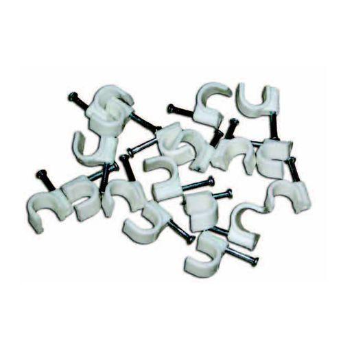 Скобы крепежные квадратные (плоская) 4мм (1уп.-50 шт) EKF