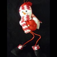 Снеговик с длинными ножками