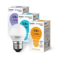 Светодиодная лампа 42 серия 42LED-G45-5W-230-4000K-E27 (38448)