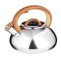 """VETTA Чайник стальной 3.0л """"Ива"""" зеркальный, стеклянная крышка, индукция (847-059)"""
